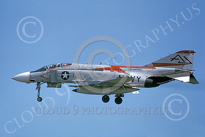 F-4USN 00066 A landing McDonnell Douglas F-4 Phantom II US Navy 153792 VF-74 BEDEVILERS USS America 8-1973 military airplane picture by Bob Guillory