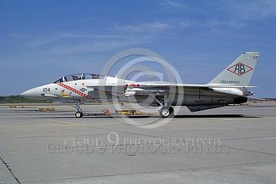 F-14USN 00931 A static Grumman F-14 Tomcat USN 159465 VF-102 DIAMONDBACKS USS America NAS Oceana 4-1982, by Michael Grove, Sr
