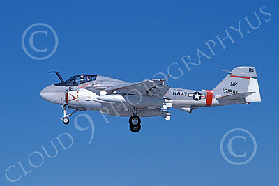 KA-6DUSN 00030 A landing Gruman KA-6D Intruder USN 151810 VA-196 MAIN BATTERY USS Constellation NK code 9-1984 military airplane picture by Michael Grove, Sr