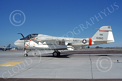 KA-6DUSN 00057 A static Gruman KA-6D Intruder USN 151810 VA-196 MAIN BATTERY USS Constellation NAS Fallon 9-1984 military airplane picture by Michael Grove, Sr