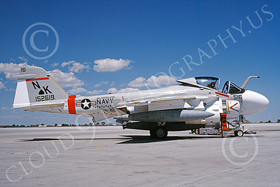 KA-6DUSN 00033 A static Gruman KA-6D Intruder USN 152619 VA-196 MAIN BATTERY USS Constellation NAS Fallon 8-1988 military airplane picture by Michael Grove, Sr