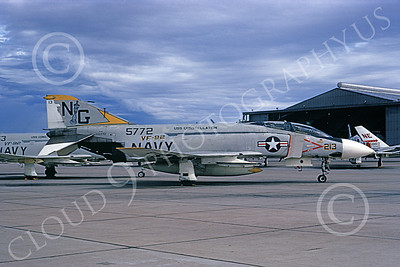 F-4USN 00911 A static McDonnell Douglas F-4J Phantom II US Navy 155772 VF-92 SILVER KINGS USS Constellation NAS Miramar 10-1972 military airplane picture by Michael Grove, Sr