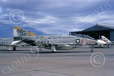 F-4USN 00911 A static McDonnell Douglas F-4J Phantom II US Navy 155772 VF-92 SILVER KINGS USS Constellation NAS Miramar 10-1972 military airplane picture by Michael Grove, Sr