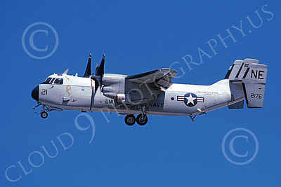 C-2 00050 A landing Grumman C-2 Greyhound USN 162176 VRC-30 PROVIDERS USS Constellation 10-2002 military airplane picture by Michael Grove, Sr