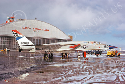 RA-5C 00034 A static North American RA-5C Vigilante USN 156640 RVAH-12 SPEARTIPS USS Constellation 3 Dec 1973 military airplane picture by Michael Grove, Sr