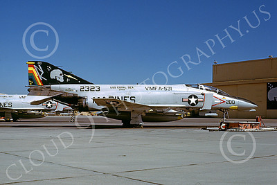 F-4USMC 00263 A static McDonnell Douglas F-4N Phantom II USMC 152323 VMFA-531 GREY GHOSTS commanding officer's USS Coral Sea NK MCAS El Toro Nov 1979 military airplane picture by Michael Grove, Sr