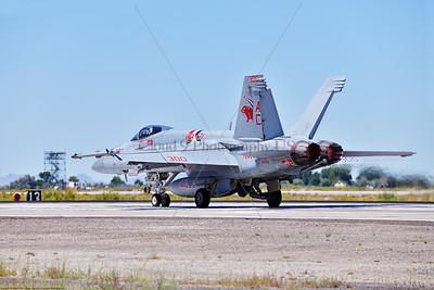 F-18E-USN-VF-131 004 A Boeing F-18E Super Hornet jet fighter USN 168909 VF-131 WILDCATS CAG USS Dwight Eisenhower AC code taking off in afterburner at NAS Fallon 7-2019, military airplane picture by Peter J  Mancus     851_9800     Dwt
