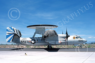 E-2USN 00169 A taxing Grumman E-2C Hawkeye USN 160703 VAW-121 BLUE TAILS USS Dwight D Eisenhower NAS Fallon 5-1987 military airplae picture by Michael Grove, Sr