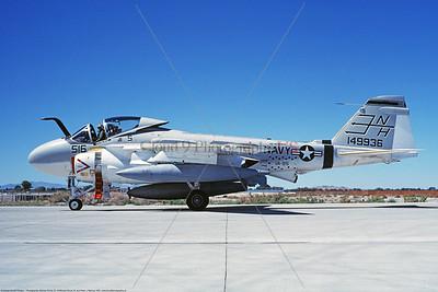 KA-6DUSN 00059 A taxing Gruman KA-6D Intruder USN 149936 VA-95 GREEN LIZARDS USS Enterprise NAS Fallon 8-1987 military airplane picture by Michael Grove, Sr