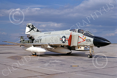 F-4USN 00771 A static McDonnell Douglas F-4J Phantom II US Navy 155776 VF-96 FIGHTING FALCONS USS Enterprise 3-1969 military airplane picture by Michael Grove, Sr