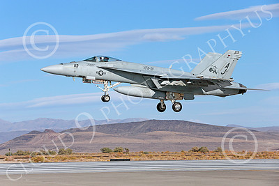 Boeing F-18E-USN 00098 A landing Boeing F-18E Super Hornet jet fighter USN VFA-31 TOMCATTERS USS George H W Bush AJ code NAS Fallon 10-2013 military airplane picture by Peter J Mancus