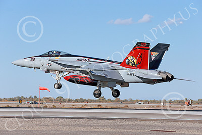 Boeing F-18E-USN 00110 A colorful Boeing F-18E Super Hornet USN 166776 VFA-31 TOMCATTERS USS George H W Bush AJ code lands at NAS Fallon 10-2013 military airplane picture by Peter J Mancus
