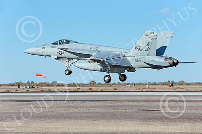 Boeing F-18E-USN 00048 A landing Boeing F-18E Super Hornet jet fighter USN VFA-31 TOMCATTERS USS George H W Bush AJ code NAS Fallon 10-2013 military airplane picture by Peter J Mancus