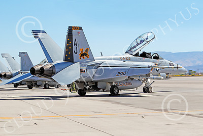 CAG 00041 Boeing F-18E Super Hornet USN 166928 VFA-213 BLACK LIONS USS George H W Bush static at NAS Fallon, by Peter J Mancus