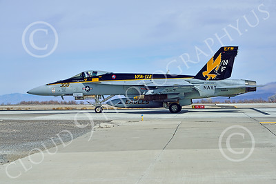 Boeing F-18E-USN 00215 A Boeing F-18E Super Hornet USN 166859 VFA-115 EAGLES commanding officer's airplane USS George Washington NF code with large bomb on runway for take-off at NAS Fallon 2-2015 military airplane picture by Peter J Mancus