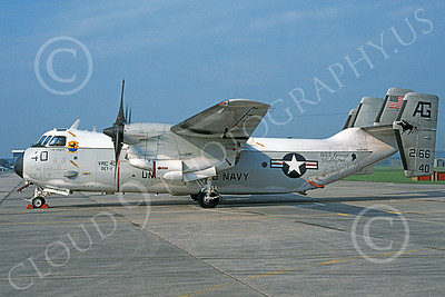C-2 00065 A static Grumman C-2 Greyhound USN 162166 VRC-40 RAWHIDES USS George Washington NAS Oceana 6-1994 military airplane picture by Michael Grove, Sr