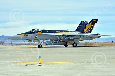 Boeing F-18E-USN 00231 A Boeing F-18E Super Hornet USN 166859 VFA-115 EAGLES commanding officer's airplane USS George Washington NF code with large bomb at NAS Fallon 2-2015 military airplane picture by Peter J Mancus