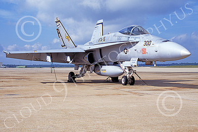 Boeing F-18C-USN 00181 A static Boeing F-18C Hornet USN 164627 VFA-15 VALIONS USS Theodore Roosevelt NAF Washington 7-2004 military airplane picture by George Ager