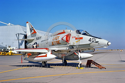 "A-4USN-VA-164 0003 A static Douglas A-4F USN attack jet 155022 VA-164 GHOST RIDERS ""LADY JESSIE"" USS Hancock NAS Lemoore 7-1974 military airplane picture by Michael Grove"