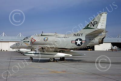 A-4USN 00165 A USN Douglas A-4F Skyhawk attack jet, 154194, VA-55 WARHORSES USS Hancock, NAS Lemoore 7-1974, airplane picture, by Michael Grove, Sr