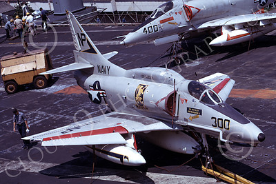 A-4USN 00152 A USN Douglas A-4F Skyhawk, 154213, VA-212 RAMPANT RAIDERS USS Hancock 19 April 1973, airplane picture, by Hideki Nagakubo