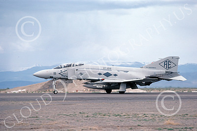 F-4USN 00695 A landing McDonnell Douglas F-4J Phantom II US Navy 155766 VF-102 DIAMONDBACKS USS Independence NAS Fallon 5-1980 military airplane picture by Michael Grove, Sr