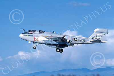 EA-6BUSN 00318 A landing Grumman EA-6B Prowler USN 160433 VAQ-131 LANCERS USS Independence NAS Fallon 4-1983 military airplane picture by Michael Grove, Sr