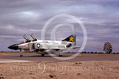 CHUTE 00036 McDonnell Douglas F-4J USNavy VF-33 AF 22 May 1975 by Peter B Lewis