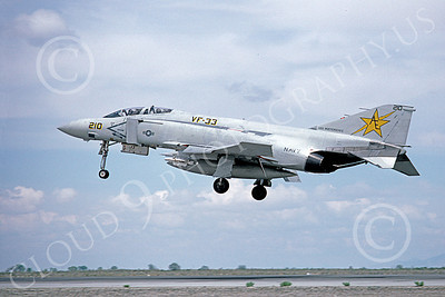 F-4USN 00482 A landing McDonnell Douglas F-4 Phantom II US Navy VF-33 TARSIERS USS Independence NAS Fallon May 1980 military airplane picture Michael Grove, Sr