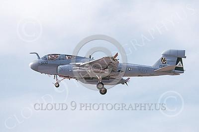 EA-6BUSN 00326 A landing Grumman EA-6B Prowler USN 158881 VAQ-138 YELLOWJACKETS USS John C Stennis 1-1999 military airplane picture by Michael Grove, Sr
