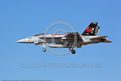 F-18E-USN-VFA-14 002 A landing colorful Boeing F-18E Super Hornet USN jet fighter 166434 VFA-14 TOPHATTERS CAG USS John C Stennis 10-2016 military airplane picture by Michael Grove, Sr     DONEwt