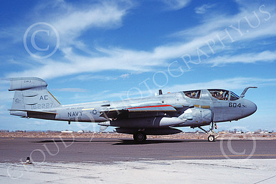 EA-6BUSN 00403 A taxing Grumman EA-6B Prowler USN 162227 VAQ-130 ZAPPERS USS John F Kennedy NAS Fallon 3-1986 military airplane picture by Michael Grove, Sr