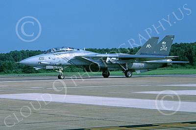 F-14USN 00885 A taxing Grumman F-14 Tomcat USN 163229 VF-84 JOLLY ROGERS USS John F Kennedy NAS Oceana 8-2003, by Harold Weiss