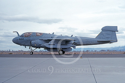 EA-6BUSN 00373 A taxing Grumman EA-6B Prowler USN 163402 VAQ-130 ZAPPERS USS John F Kennedy NAS Fallon 3-1992 military airplane picture by Michael Grove, Sr