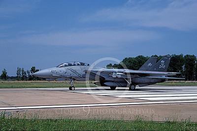 F-14USN 00965 A taxing Grumman F-14 Tomcat USN 161862 VF-103 JOLLY ROGERS USS John F Kennedy NAS Oceana 6-2004, by J E Michaels