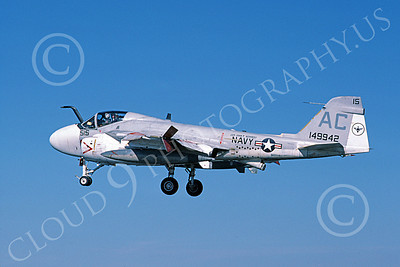KA-6DUSN 00101 A landing Gruman KA-6D Intruder USN 149942 USS John F Kennedy 9-1985 military airplane picture by Michael Grove, Sr