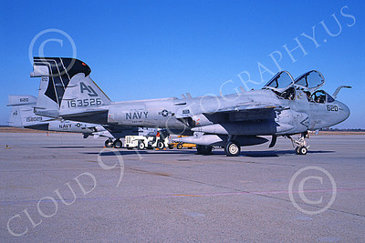 EA-6BUSN 00385 A static Grumman EA-6B Prowler USN 163526 VAQ-141 SHADOWHAWKS USS john F Kennedy Andrews AFB 2-1997 military airplane picture by Ken Buker