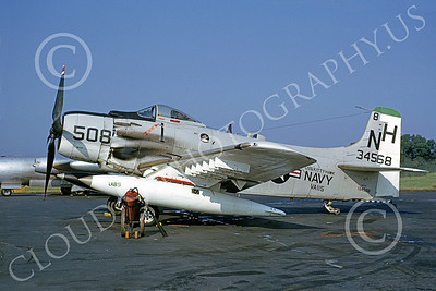 A-1USN 00025 Douglas A-1H Skyraider USN 134568 VA-115 ARABS USS Kitty Hawk 15 July 1963, by David W Lucabaugh D