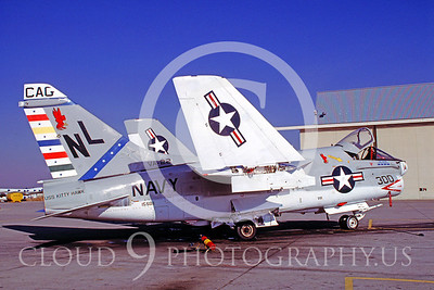 CAG 00008 Vought A-7 Corsair II USN VA-22 9 Dec 1978 by Carl E Porter