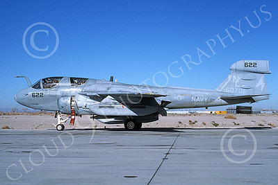 EA-6BUSN 00369 A taxing Grumman EA-6B Prowler USN 160706 VAQ-134 GARUDAS USS Kitty Hawk NAS Fallon 3-1994 military airplane picture by Michael Grove, Sr