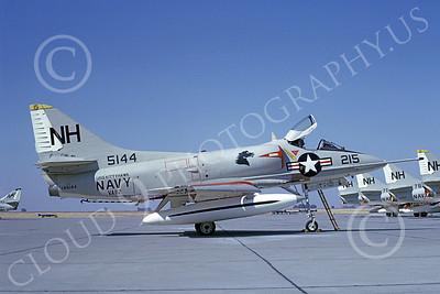 A-4USN 00100 A USN Douglas A-4 Skyhawk attack jet, 145114, VA-112 BOMBING BRONCOS USS Kitty Hawk, NAS Lemoore 10-1968, airplane picture, by Duane A Kasulka