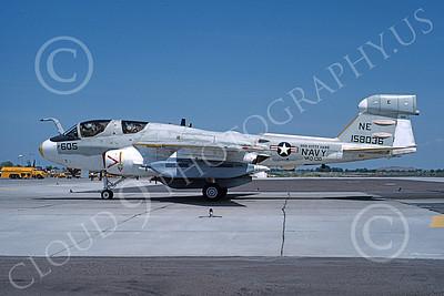 EA-6BUSN 00383 A taxing Grumman EA-6B Prowler USN 158036 VAQ-130 ZAPPERS USS Kitty Hawk NAS Fallon 6-1983 military airplane picture by Michael Grove, Sr