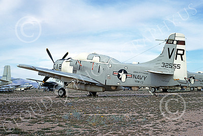 A-1USN 00031 Douglas EA-1F Skyraider USN 132555 VAW-13 ZAPPERS USS Kitty Hawk D-M AFB April 1969, by Peter B Lewis