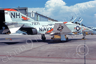 F-4USN 00531 A static McDonnell Douglas F-4J Phantom II US Navy 157271 VF-114 ANTEATERS commanding officer's USS Kitty Hawk NH NAS Miramar Sept 1974 military airplane picture by Michael Grove, Sr