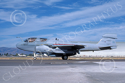 EA-6BUSN 00401 A taxing Grumman EA-6B Prowler USN 162228 VAQ-130 ZAPPERS USS Kitty Hawk NAS Moffett 8-1986 military airplane picture by Michael Grove, Sr