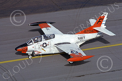 T-2USN 00017 A taxing North American Aviation T-2C Buckeye USN 157047 VT-4 WARBUCKS USS Lexington Hill AFB 8-1974 military airplane picture by Carl E Porter