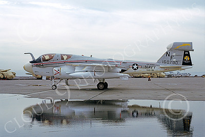 EA-6BUSN 00335 A static Grumman EA-6B Prowler USN 160790 VAQ-136 GAUNTLETS USS Midway NAS Alameda 2-1980 military airplane picture by Michael Grove, Sr