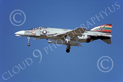 F-4USN 00358 McDonnell Douglas F-4J Phantom II US Navy 151400 VF-151 VIGILANTES, commanding officer's airplane, USS Midway Sept 1977, by Michael Grove, Sr