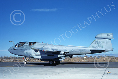 EA-6BUSN 00347 A taxing Grumman EA-6B Prowler USN 162229 VAQ-136 GAUNTLETS USS Midway NAS Fallon 10-1986 military airplane picture by Michael Grove, Sr