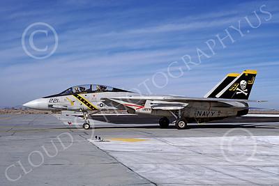 F-14USN 00877 A taxing Grumman F-14 Tomcat USN 161138 VF-84 JOLLY ROGERS USS Nimitz NAS Fallon 1-1981, by Michael Grove, Sr